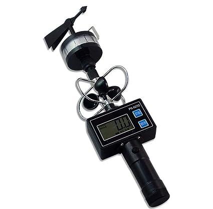 Estación meteorológica Sensor de Velocidad del Viento, máquina multifunción de Mano integrada Pantalla LED Digital
