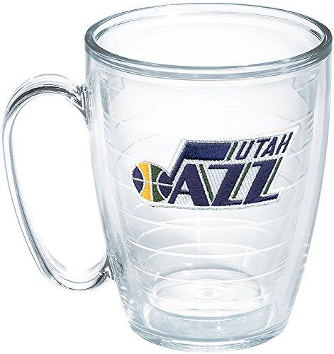 (Tervis NBA Utah Jazz Emblem 16oz Mug with No Lid, Clear)