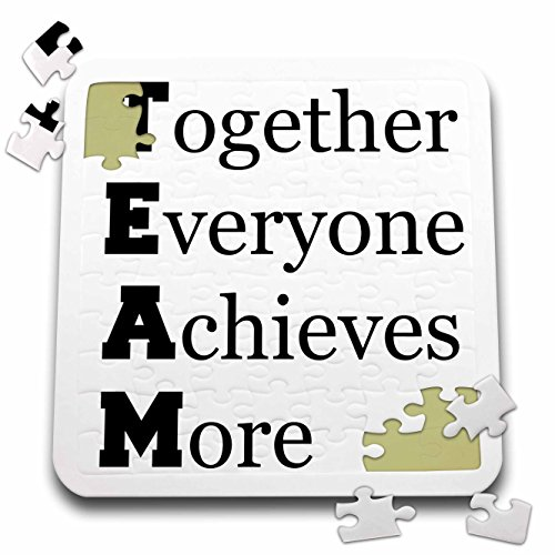 3dRose Xander inspirational quotes - TEAM together everyone achieves more - 10x10 Inch Puzzle (pzl_216421_2)