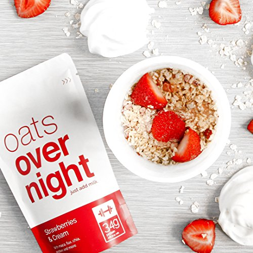 Oats Overnight - Premium High-Protein, Low-Sugar, Gluten-Free (3oz per pack) (12 Pack Variety with BlenderBottle) by Oats Overnight (Image #5)