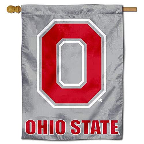 OSU Buckeyes Block O Logo House Flag Banner