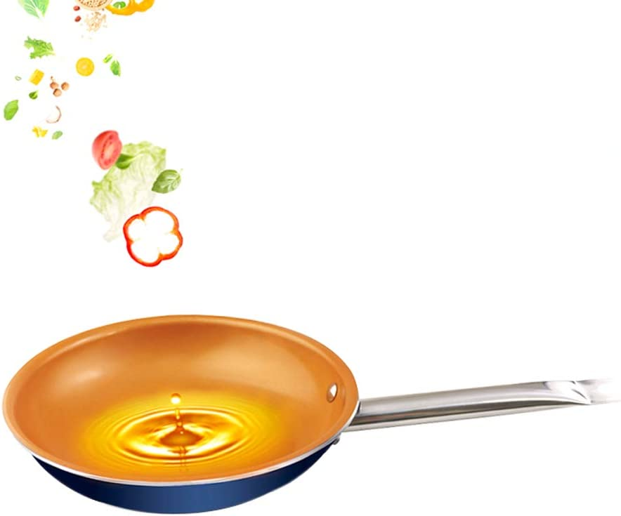7.9 Inch Nonstick Copper Ceramic coated frying pan cooking pan with induction base Dishwasher Safe Oven Safe