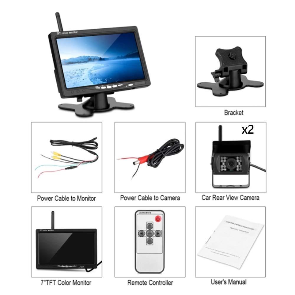 7 Monitor TAFFIO/® LKW Bus H/änger Funkkamera HD CCD Nachtsicht R/ückfahrkamera Kabellos