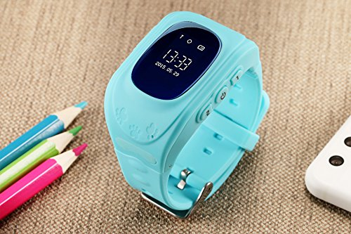 JUNEO Q50 GPS Tracker Smartwatch Anti Lost SOS Call WristWatch Children Finder Fitness Pedometer Wristwatch SOS Calling Location Remote Monitor (Blue) by TK-STAR (Image #2)