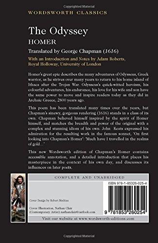 Amazon the odyssey wordsworth classics 8601200828986 homer amazon the odyssey wordsworth classics 8601200828986 homer george chapman adam roberts books fandeluxe Choice Image