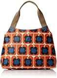 Orla Kiely Love Birds Print Classic Zip Shoulder, Persimmon