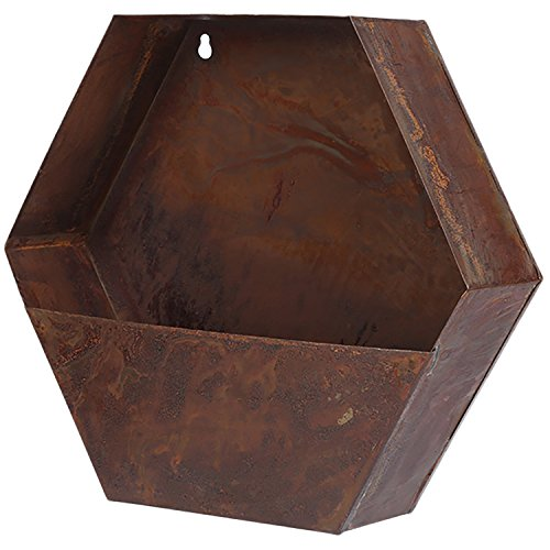 CEDAR HOME Hanging Planter Flower Pot Metal Container Wall Pocket Garden Bucket for Indoor or Outdoor Balcony Patio, 13