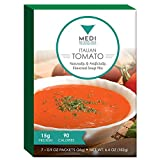 Medi-Weightloss Italian Tomato Soup - Easy to Make - High Protein (15g) - 90 Calories - 6.4 oz Box (7 Meals) - For Hunger Control During Diet/Weight Loss