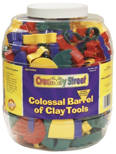Colossal Barrel of Clay Tools, 144 Cutters in 24 Designs, Five Tools in Each by Chenille Kraft