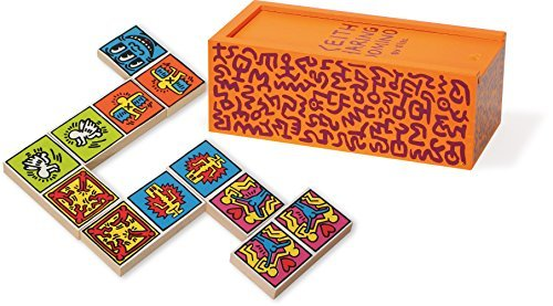 Vilac Keith Haring Coloured Dominoes Game (28-Piece) by Vilac