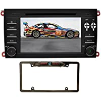 YINUO Android 7.1.1 Quad Core 7 inch 2 Din Car Stereo HD Touchscreen Car Radio Receiver DVD GPS Navigation for PORSCHE cayenne 2003-2010,Free Mic 8GB Map Card and Reverse Camera