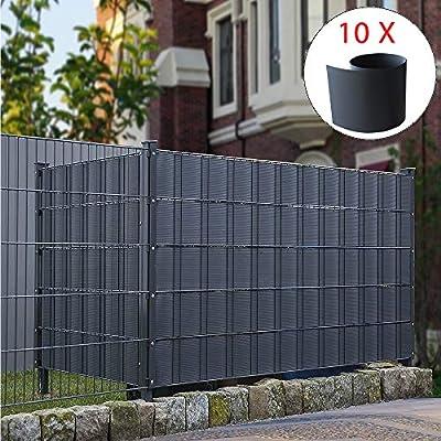 Melko - Paneles de protección para vallas (PVC, 10 unidades): Amazon.es: Jardín