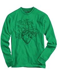 Sprouting Heart Shirt   Spirit Animal ZEN Garden Mystic Truth Long Sleeve Tee