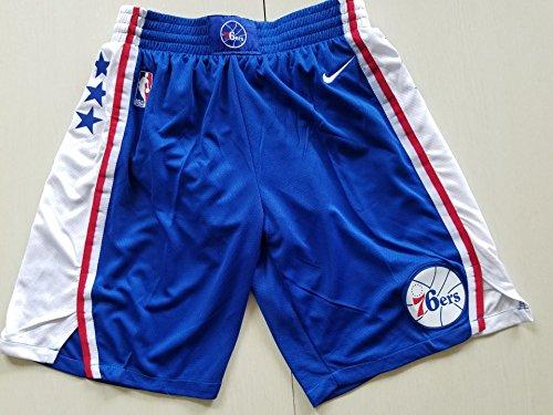 Marcleblanc Men's Philadelphia Statement Swingman Basketball Shorts (Blue, XL) -