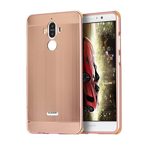zl one Carcasa para Huawei Mate 9 Funda Aluminio Metal Brushed Back Cover Case + 1 Protector de Pantalla Cristal Tempered...