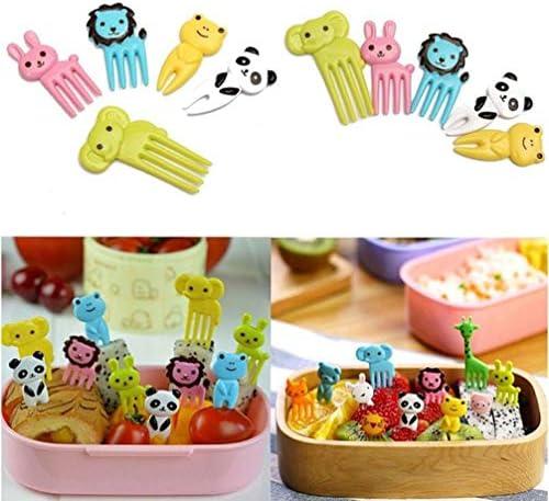 STOBOK 20 stücke Cartoon Tier Obst Gabel Dessert Kätzchen Lebensmittel Bento Dekoration Zubehör Picks Party Supplies Gabeln für Kleinkind Erwachsene Kinder