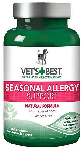 Vet's Best Seasonal Allergy Support Dog Supplements, 60 Chewable Tablets