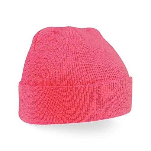 punto hombre Gorro Pink para de Fluorescent MazClothing qzaESvw