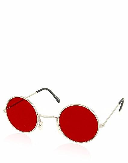 Daredevil Teashade style lunettes de soleil, châssis argenté   La lentille  rouge 142730eee5ed