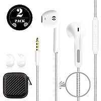 GRTF In-Ear Stereo Earphones [2 Pack] Premium Earbuds...