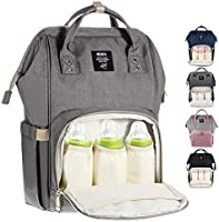 MUIFA Diaper Bag Multi-Function Waterproof Travel Backpack Nappy Bag for Baby Care with Insulated Pockets, Large...