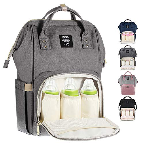 Diaper Bag Multi-Function Waterproof Travel Backpack Nappy Bag for Baby Care with Insulated Pockets, Large Capacity, Durable (Grey) (Grey)