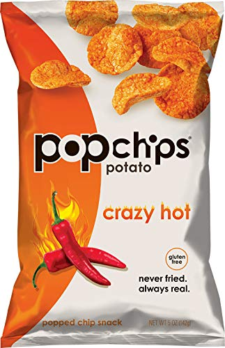 - Popchips Crazy Hot Potato Chips 5 oz Bags (Pack of 12)