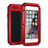 R MAO-Aluminum Metal Case for iPhone 6/6S 4.7inch,[Military Heavy Duty]Extreme Waterproof Shock/Dust/Dirt/Snow Proof Gorilla Glass Protection Cover Case with Touch ID Function