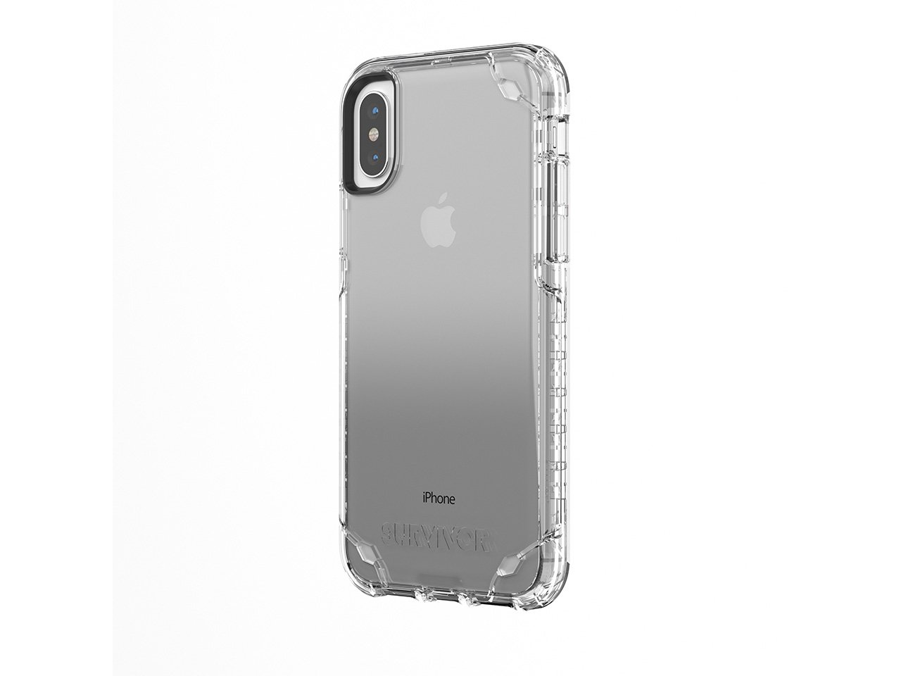 quality design 09a92 53749 Griffin Survivor Strong iPhone X Case with Slim and Shock-Absorbing Design  - Clear