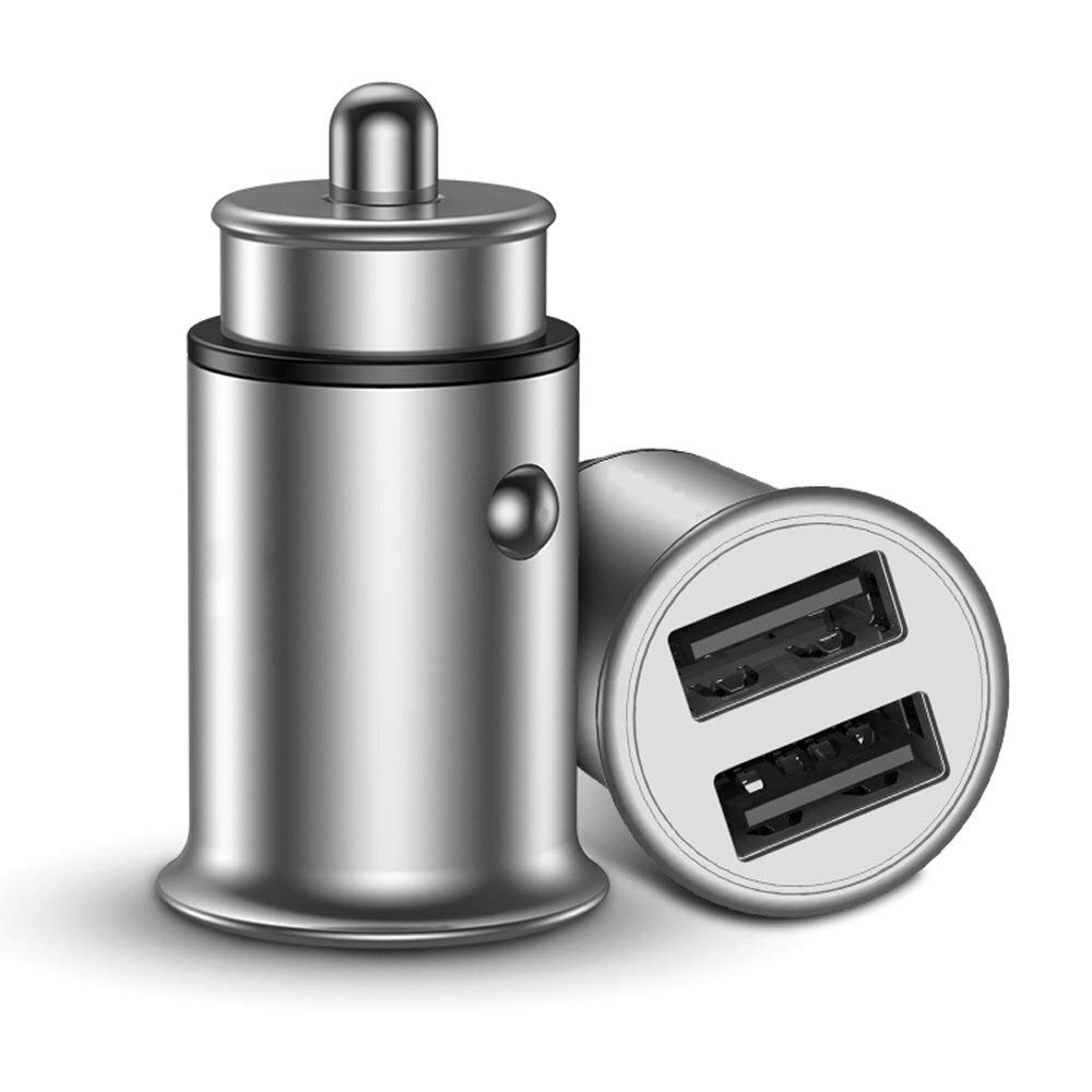 Car charger USB Car Adapter, Mobile Phone Multi-Function Fast Charge Cigarette Lighter USB One for Two