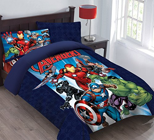 Marvel Avengers Forever Twin Comforter Set with Fitted Sheet