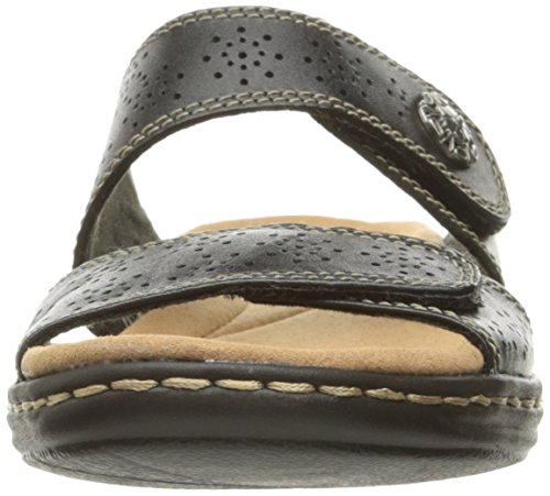 Lacole Clarks Leather Black Sandals Women's Leisa q8nArE18