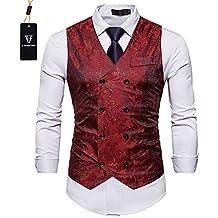 Cyparissus Mens Suit Vest Dress Vest Waistcoat For Men or Tuxedo Vest