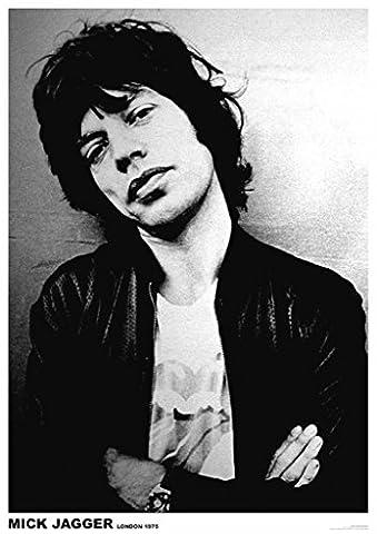 Mick Jagger London 1975 Music Poster 16.5x23.5 - Mick Jagger Band