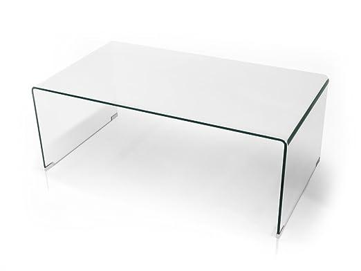 Cecile mesa - Mesa auxiliar de salón sofá mesa cristal ...