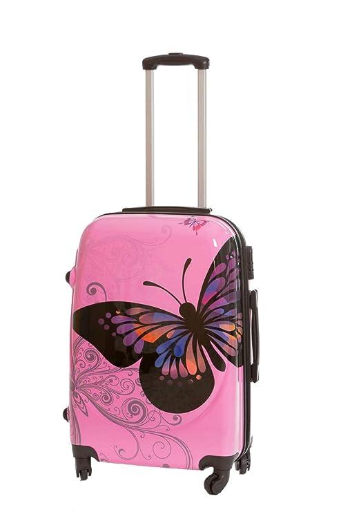 Maleta pequeña Mariposas Rosa 55x40x23 cm