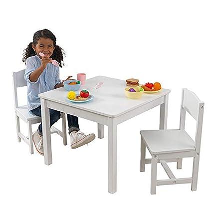 KidKraft 21201 Juego de mesa y 2 sillas Aspen infantil de madera - blanco