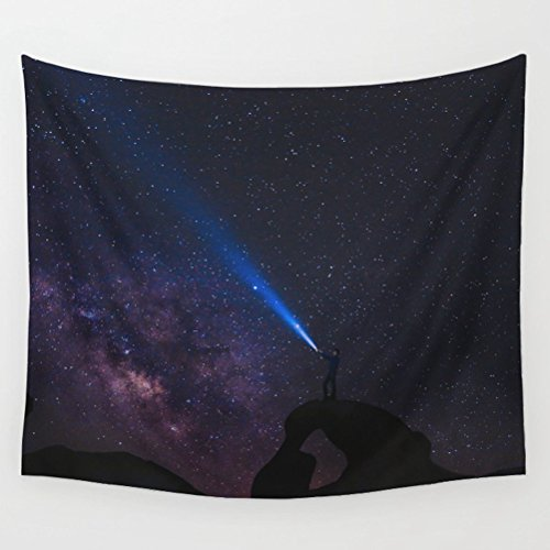 LivebyCare Galaxy Tapestry Wall Hanging Decoration Beach Towel Lightweight Polyester Fabric Decorative Wall Tapestries Decor Art for Dinning Room Passageway Lobby Apartment by LivebyCare