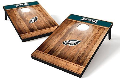 Philadelphia Nfl Set Eagles (Wild Sports NFL Philadelphia Eagles 2'x3' Cornhole Set - Brown Wood Design)