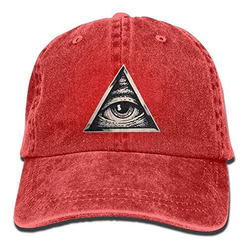 Seeing Denim Eye Cap Hat for Women Men Cowboy DEFFWB Hats Cowgirl Skull Sport Triangle All w1E4qf