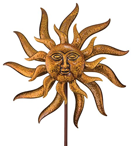 Regal Arts 11314 88 inch Kinetic Sun Face Stake-Multi Color by Regal Arts