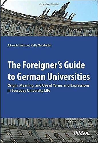 Amazon com: The Foreigner's Guide to German Universities: Origin
