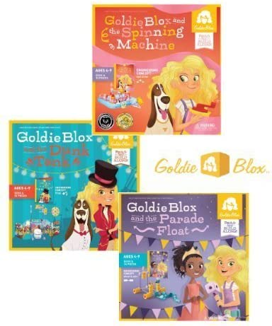 GoldieBlox Spinning Machine, Parade Float and Dunk Tank Building ...
