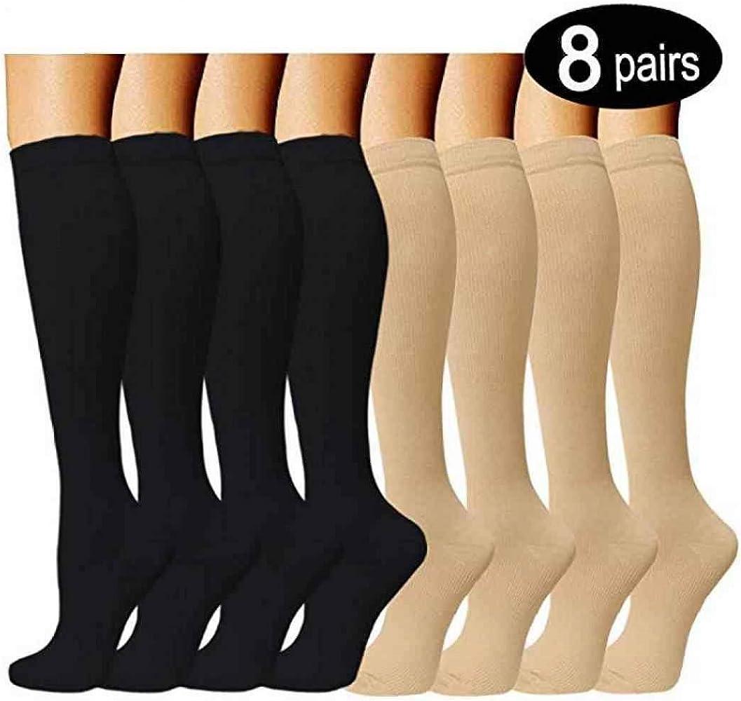 AYES Calcetines Altos hasta la Rodilla para Mujer, Calcetines clásicos de algodón Unisex 2 S-M: Amazon.es: Ropa y accesorios