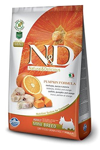Farmina - Farmina N&D Calabaza y Pescado Adult Mini Grain Free - 2346 - 2,5 kg