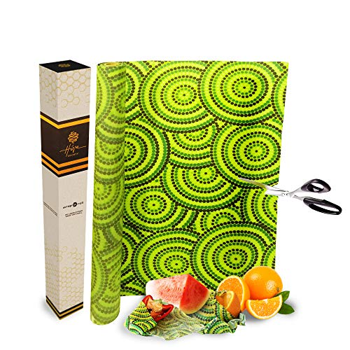 - Beeswax Wrap Roll: Large 80x16 Inch, Make Eco Friendly Reusable Food Wraps & Other Sustainable Products, Plastic Free Food Storage, Organic Washable & Biodegradable, Cut to Size