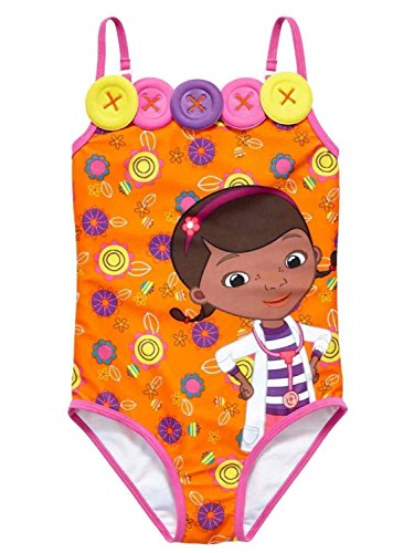 Disney Doc Mcstuffins Girls One-piece Swimsuit Size 2