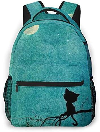 樹脂猫ムーン バックパック リュック メンズ レディース 学生 男女兼用 防水 アウトドア カジュアル デイパック 多機能 収納 通勤 通学