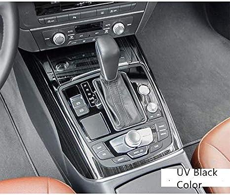 HDCF Gear Shift Control Panel Cover Trim Sticker Center Console Panel Cover Interior Decor Trim For A6 C7 High Configuation Carbon Fiber Style