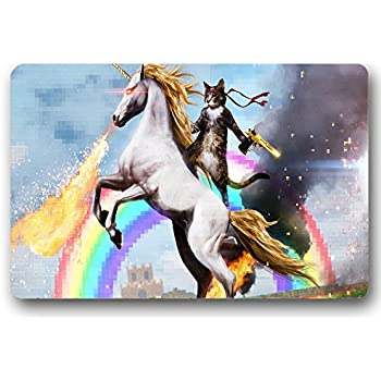 Amazon Com Personalized Funny Unicorn And Cat Indoor